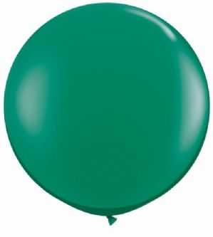 3ft Giant Balloons - Large Emerald Green Round Latex Balloon